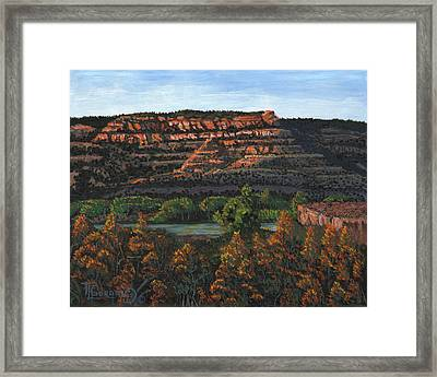 Morning Over The Bluffs Framed Print by Timithy L Gordon