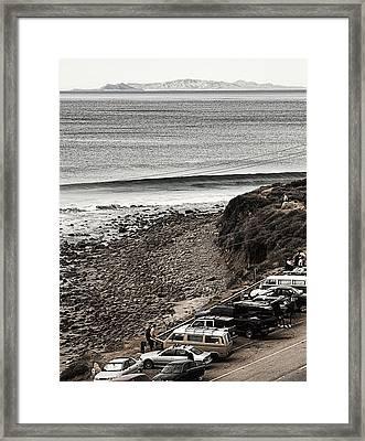 Morning Patrol At County Line Framed Print by Ron Regalado