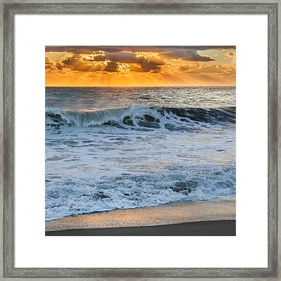Morning Rays Square Framed Print by Bill Wakeley