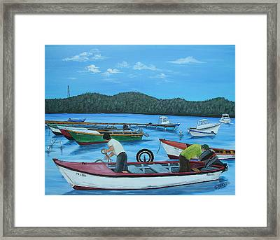 Morning Ritual Framed Print by Gloria E Barreto-Rodriguez