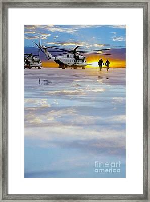 Morning Run Framed Print by Jon Neidert