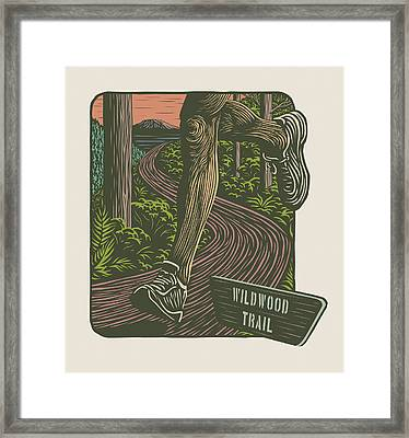 Morning Run On The Wildwood Trail Framed Print by Mitch Frey