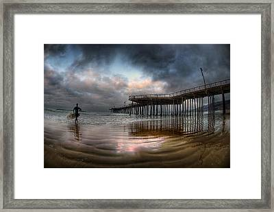 Morning Session In Pismo Framed Print by Sean Foster