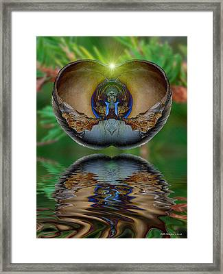Morning Shell Framed Print by WB Johnston