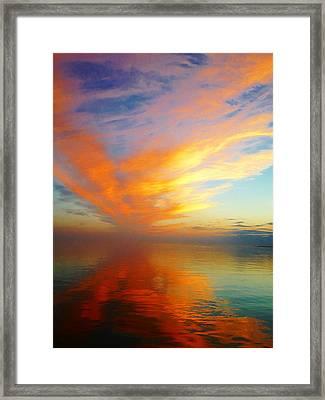 Morning Sky Ocracoke Nc Framed Print by Joan Meyland