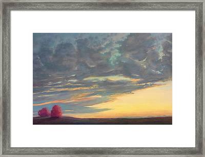 Morning Sky Framed Print by Regina Calton Burchett