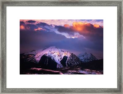 Morning Storm Framed Print by Darren  White