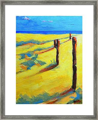Morning Sun At The Beach Framed Print by Patricia Awapara