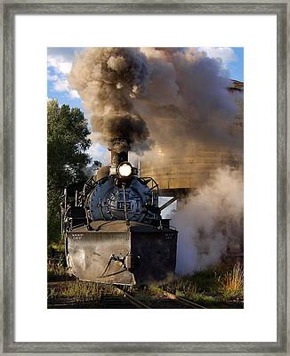 Morning Sun On The Railroad Framed Print by Ken Smith