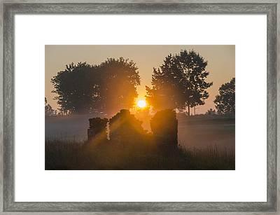 Morning Sunrise At Philadelphia Cricket Club Framed Print by Bill Cannon