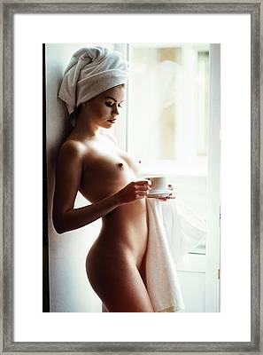 Morning Tea Framed Print by Gene Oryx