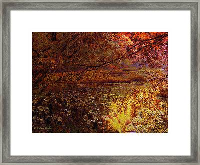 Morning Tranquility Framed Print by J Larry Walker