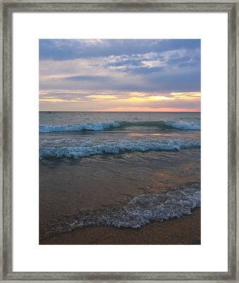 Morning Waves Framed Print by Dan Sproul