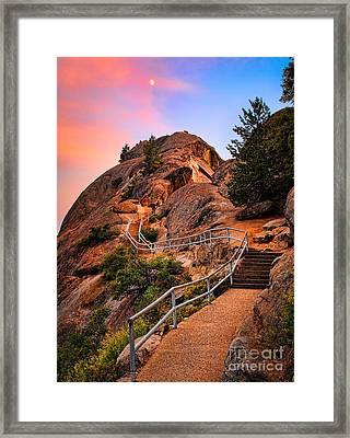 Moro Rock Path Framed Print by Inge Johnsson