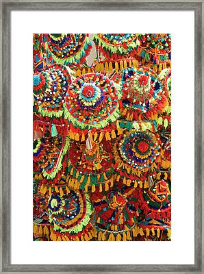 Moroccan Caps For Sale, Souk Framed Print by Nico Tondini