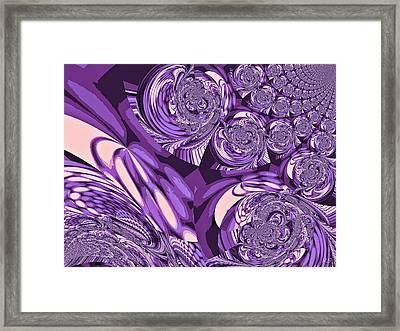 Moroccan Lights - Purple Framed Print by Absinthe Art By Michelle LeAnn Scott