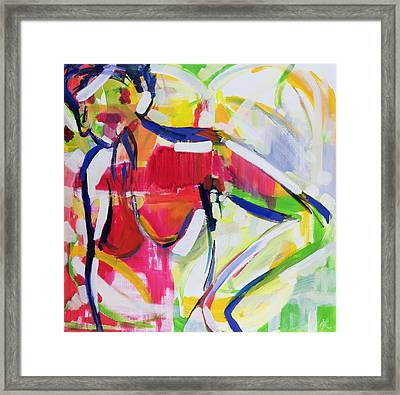 Moroccan Nude Framed Print by Angie Kenber