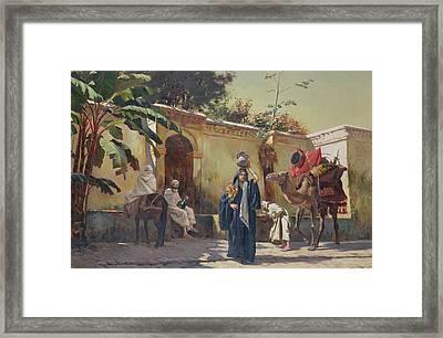 Moroccan Scene Framed Print by Rudolphe Ernst