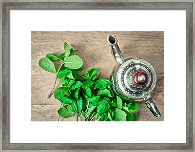Moroccan Tea Framed Print by Tom Gowanlock