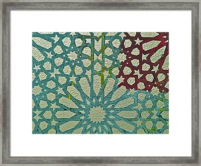 Moroccan Tile Design Framed Print by Karim Baziou