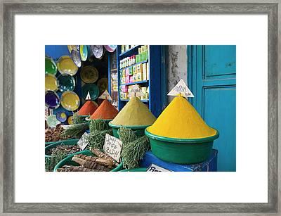 Morocco, Atlantic Coast, Essaouira Framed Print by Walter Bibikow