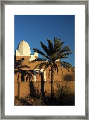Morocco, Skoura White Trim Kasbah Framed Print by Kymri Wilt