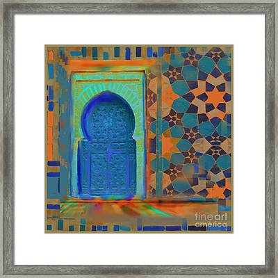 Moroccon Door Series Framed Print by S Seema Z