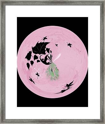 Morphed Art Globe 10 Framed Print by Rhonda Barrett