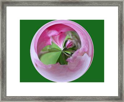Morphed Art Globe 11 Framed Print by Rhonda Barrett