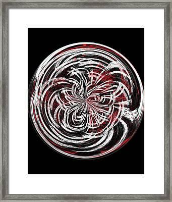 Morphed Art Globe 15 Framed Print by Rhonda Barrett