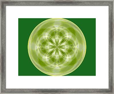 Morphed Art Globe 27 Framed Print by Rhonda Barrett