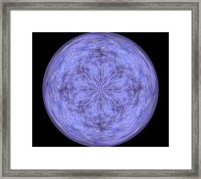 Morphed Art Globe 30 Framed Print by Rhonda Barrett