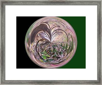 Morphed Art Globe 36 Framed Print by Rhonda Barrett