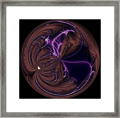 Morphed Art Globe 39 Framed Print by Rhonda Barrett