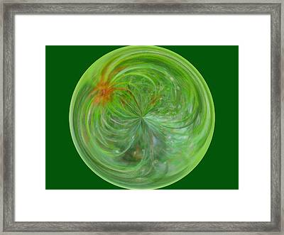 Morphed Art Globe 5 Framed Print by Rhonda Barrett