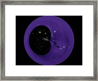 Morphed Art Globe 6 Framed Print by Rhonda Barrett