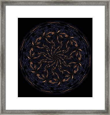 Morphed Art Globes 14 Framed Print by Rhonda Barrett