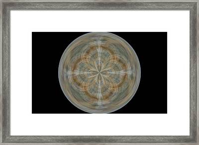 Morphed Art Globes 25 Framed Print by Rhonda Barrett