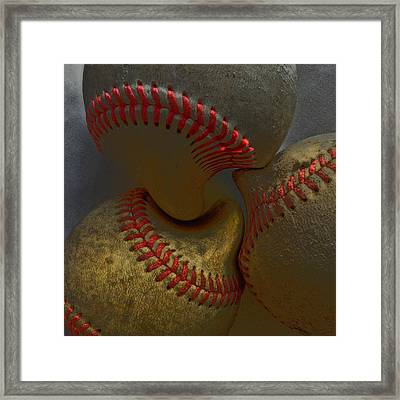 Morphing Baseballs Framed Print by Bill Owen