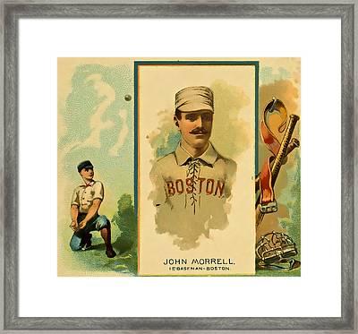 Morrell Baseball Framed Print by David Letts
