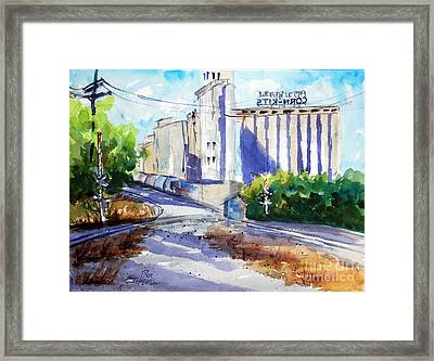 Morrisons Milling Co  Denton Tx Framed Print by Ron Stephens
