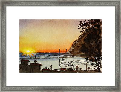 Morro Bay - California Sketchbook Project Framed Print by Irina Sztukowski