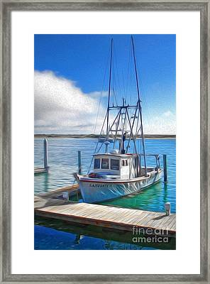 Morro Bay Fishing Boat Framed Print by Gregory Dyer