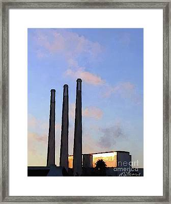 Morro Bay Power Plant Framed Print by Methune Hively