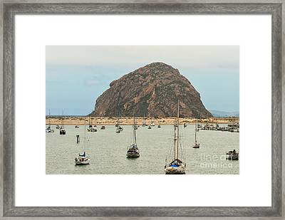 Morro Bay Rock At Dawn Framed Print by Artist and Photographer Laura Wrede