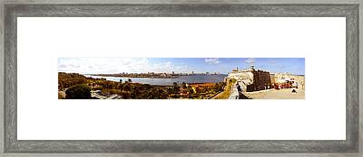 Morro Castle With City Framed Print by Panoramic Images