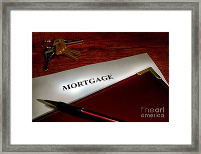 Mortgage Documents Framed Print by Olivier Le Queinec