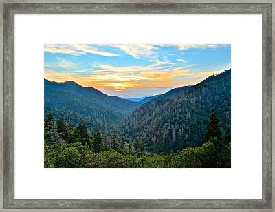 Mortons Overlook Smnp Framed Print by Frozen in Time Fine Art Photography