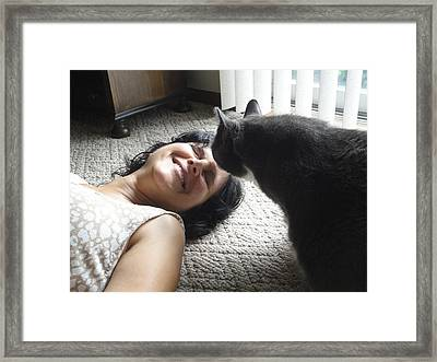 Morty's Kiss Framed Print by Guy Ricketts
