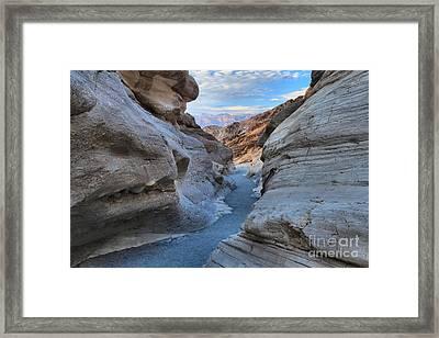 Mosaic Canyon Twilight Framed Print by Adam Jewell